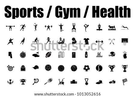 Sports, Gym and Health icons
