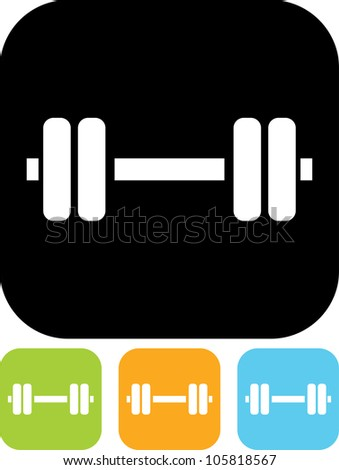 Dumbbell Icon Vector Dumbbell - Vector icon