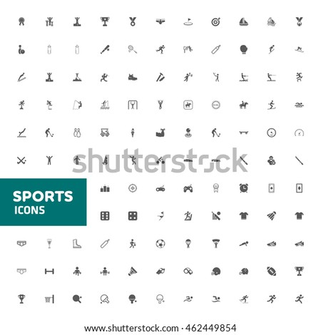 sports icon set for web and mobile vector illustration