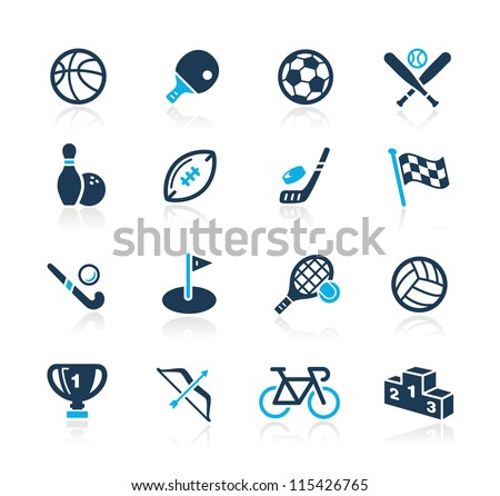 Sports Icons // Azure Series - stock vector