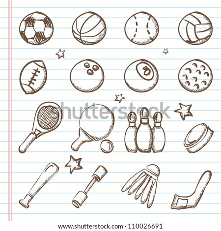 Sports icons-Doodles