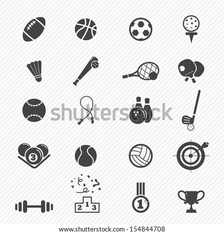 Sports Icons  isolated on white background