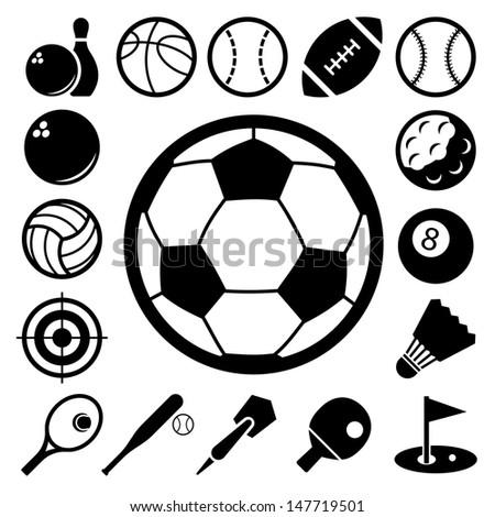 sports icons setillustration