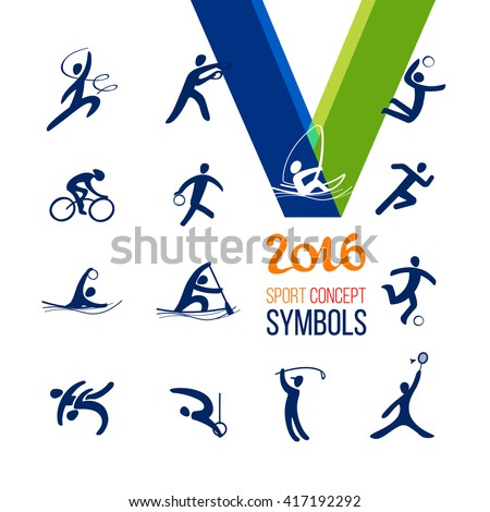 Sports icons set. Symbol sport concept recreation.Vector illustration isolate on white.