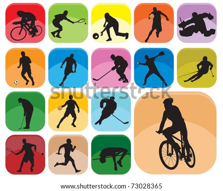 Sports Icons. Vector illustration