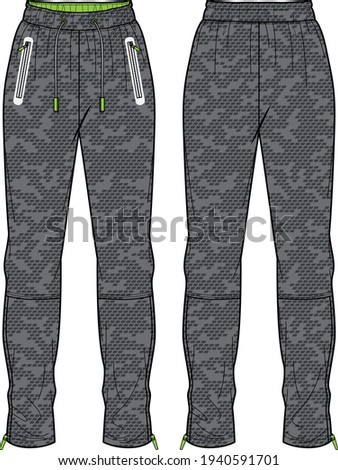 Sports Jogger bottom Pants  design vector template, Track pants concept with front and back view, Sweatpants for running, jogging, fitness,  and  active wear pants design. Stock photo ©