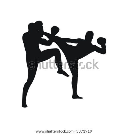 sports, karate, silhouette, kicking, fighting, men, black, japan, combative, isolated, kick, people