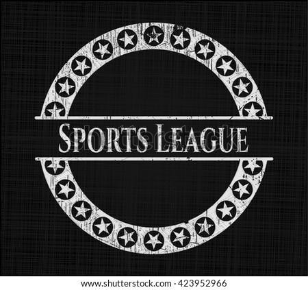 Sports League chalk emblem
