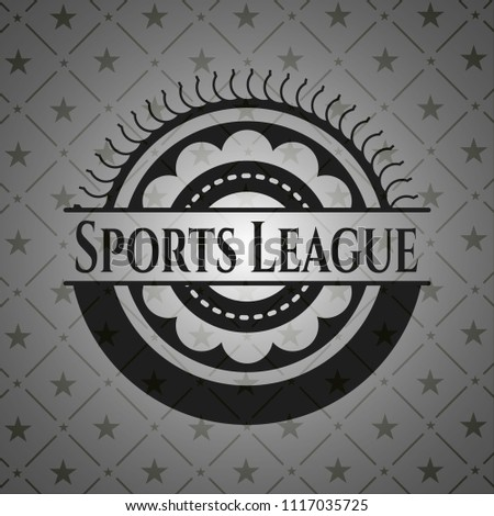 sports league dark badge