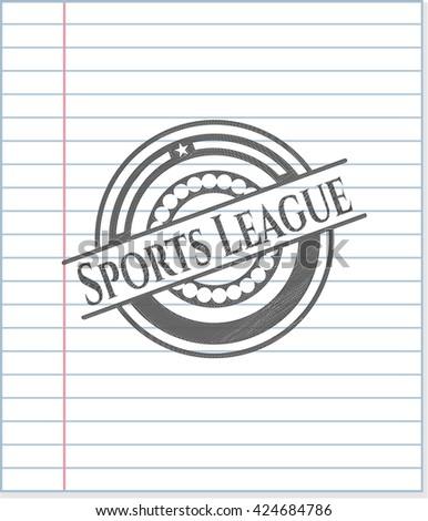 Sports League draw (pencil strokes)