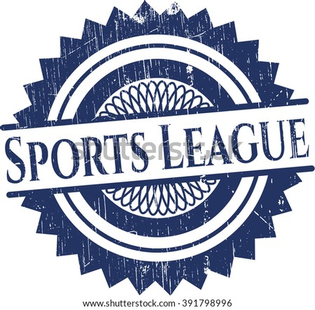 Sports League grunge style stamp