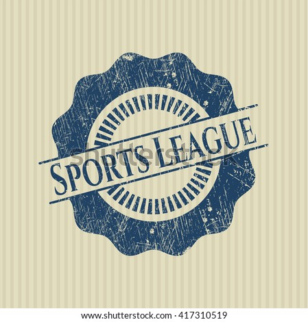 Sports League rubber grunge seal