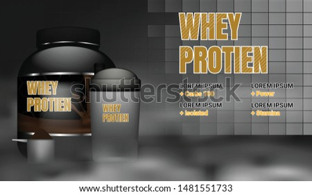 Sports nutrition ad template concept