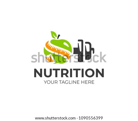 sports nutrition logo template