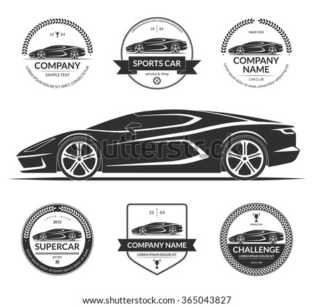 sports or super car silhouette