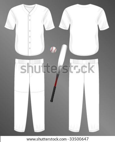 Baseball Uniform Template Vector Free | 123Freevectors