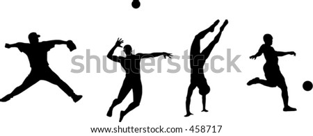 Sports silhouette