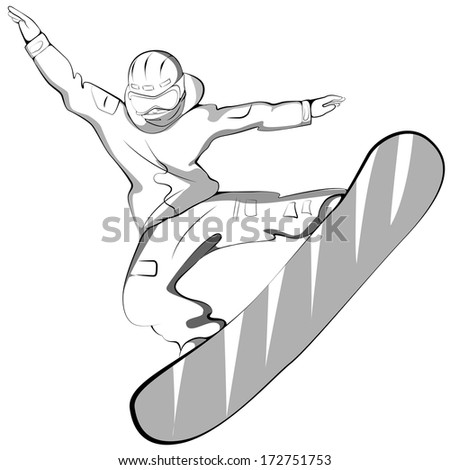 sports snowboarder jumping