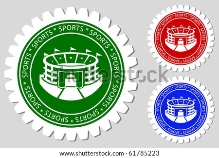 Sports Stadium Sign Labels