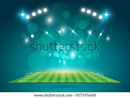 sports stadium with lights  eps