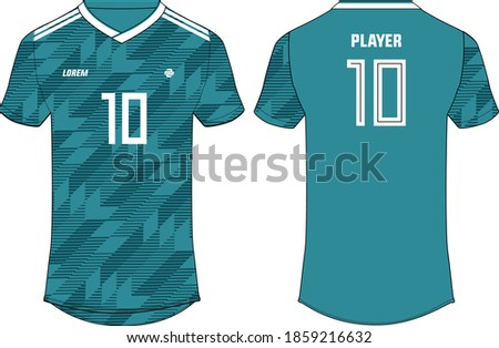 Sports t-shirt jersey design vector template, sports jersey concept with front and back view for Soccer, Cricket, Football, Volleyball, Rugby. 2018 German football jersey concept.