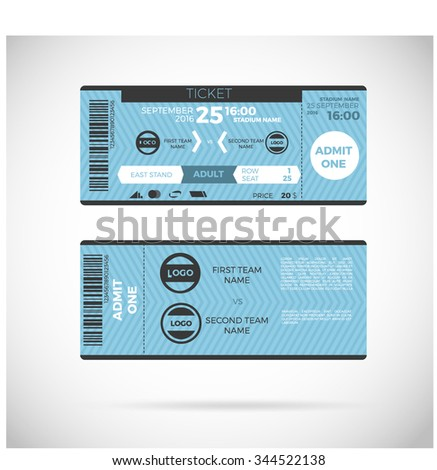 sports ticket card modern