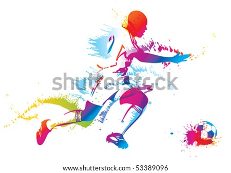 Sports training. Vector illustration.