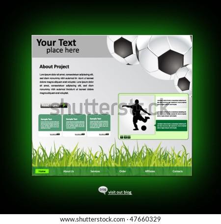 sports web site design template - vector illustration