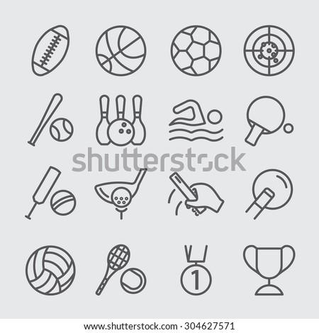 Sports world line icon