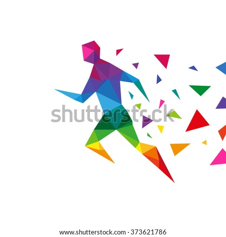 sportsman abstract triangle