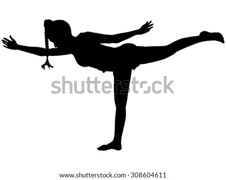 sporty girl on white background