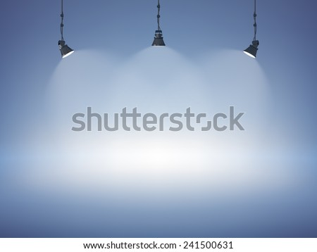 Shutterstock Spot light abstract club gallery theater interior 3d realistic background vector illustration