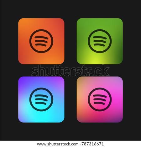 Spotify Logo four color gradient app icon design