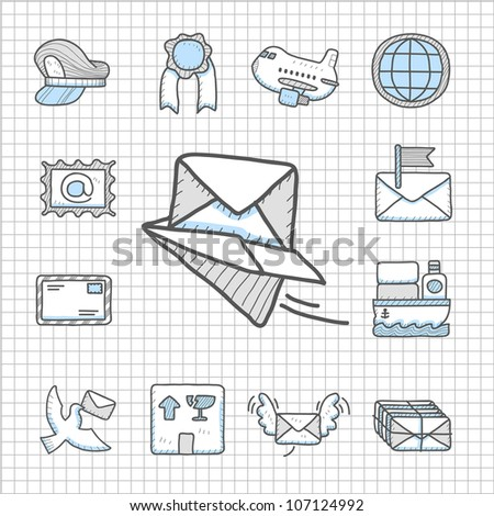 Spotless series | Hand drawn delivery,transportation icon set