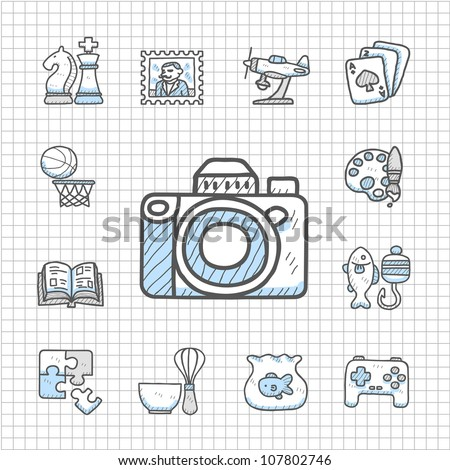 Spotless Series | Hand drawn Hobby icon set