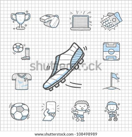 Spotless series | Hand drawn Soccer icon set