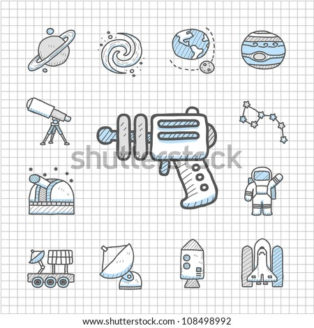 Spotless series | Hand drawn Space icon set