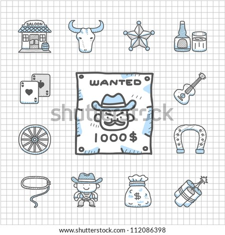 Spotless Series -  wild west cowboys icon set