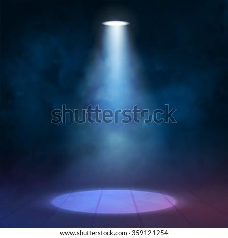 spotlight disco illuminated