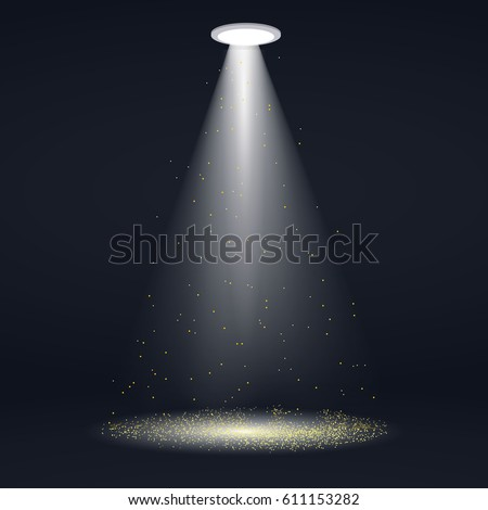 spotlight with gold glitter
