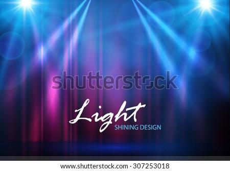 spotlights   empty scene