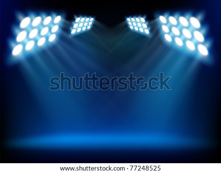 Spotlights from a stage - stock vector