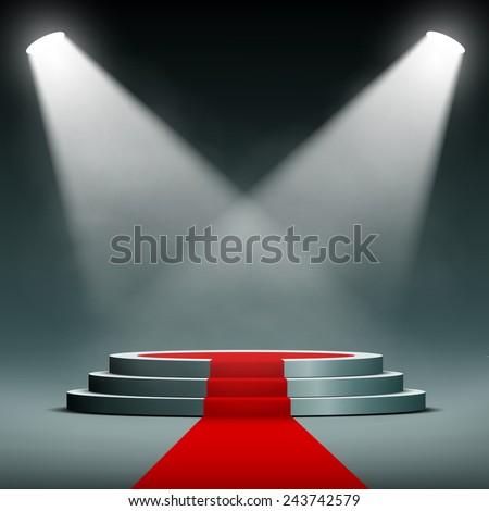 spotlights illuminate the