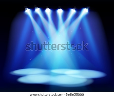 spotlights on the stage vector