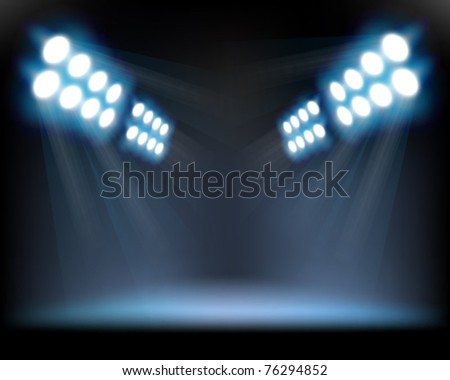 Spotlights. Vector illustration.