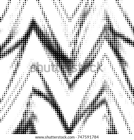 Spotted black and white grunge vector line background. Abstract halftone illustration background. Grunge grid polka dot background pattern #747591784