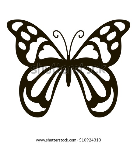 spotted butterfly icon simple