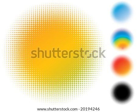 Spotted gradient flash. Design element. Vector illustration. - stock vector