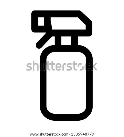 Spray bottle line icon vector