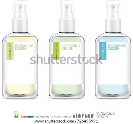 Spray bottle skincare. illustration